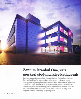 Zenium İstanbul One will double the data center stock